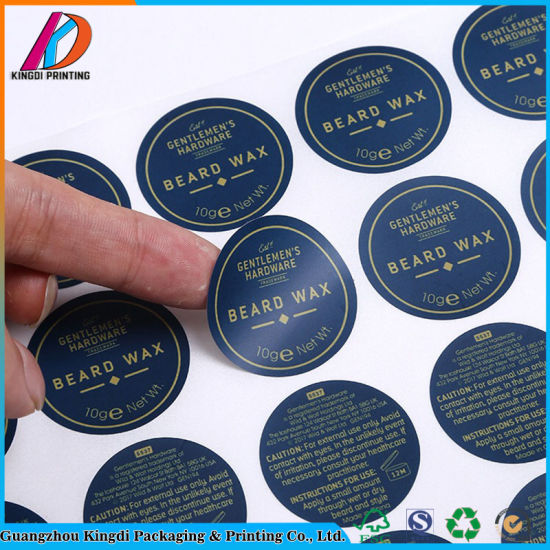 Round Shaped Paper Sticker Printing Label pictures & photos