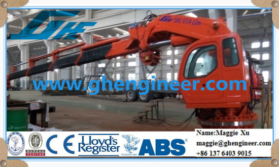 Knuckle and Telescopic Boom Jib Ship Crane pictures & photos