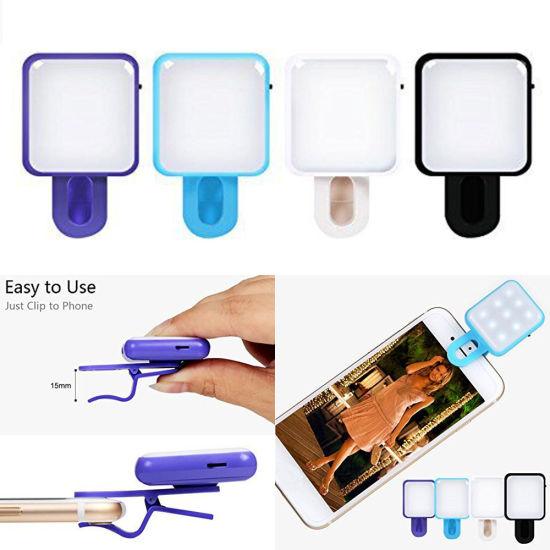 Universal LED Selfie Shooting Spotlight Rechargeable Flashlight Clip Fill Light