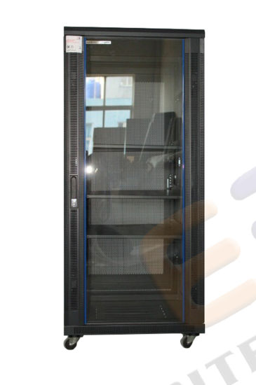 Vertical Standing Networkswitch Cabinet with Glass Door pictures & photos