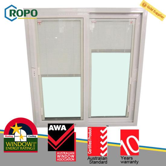 Awa Australia Standard Upvc Sliding Window With Built In Blinds