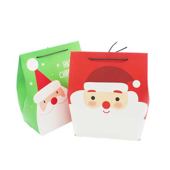 China Supplier Whole Cartoon Color Paper Christmas Gift Bag Packaging For Ab02