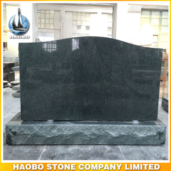 Serp Top Green Granite Headstone American Style pictures & photos