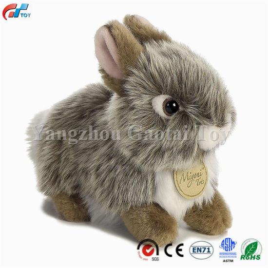 China Furry Grey Stuffed Rabbit Baby Bunny Plush China Kids Toy