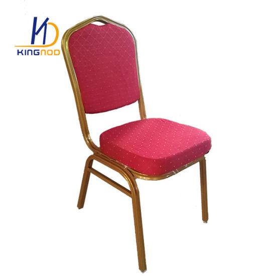 Stacking Metal Hotel Furniture Wedding Banquet Chair