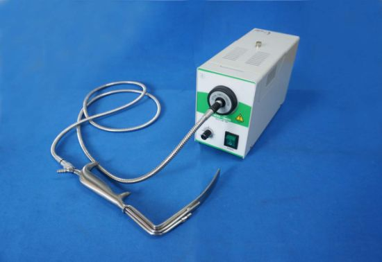 china led cold light source with single fiber optic cable microscope