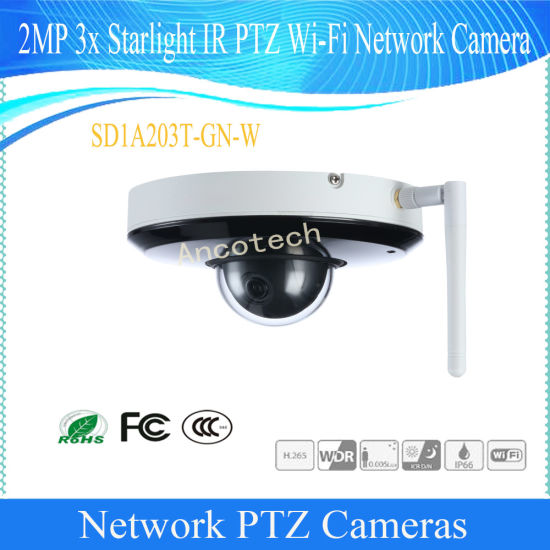 Dahua SD1A203T-GN 2MP IVS Face Detection 3x Starlight IR PTZ Network Dome Camera