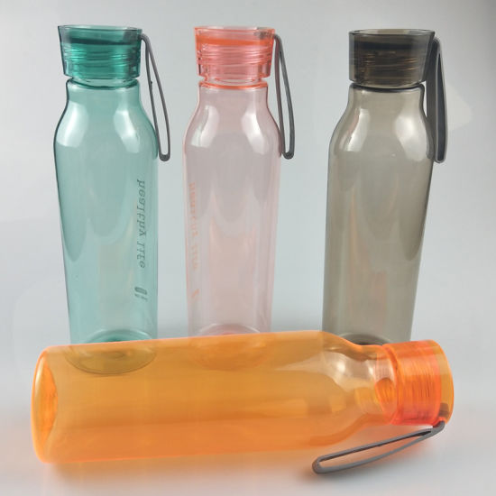 Hot Sell Plastic Sports Water Drinking Bottles with 550ml