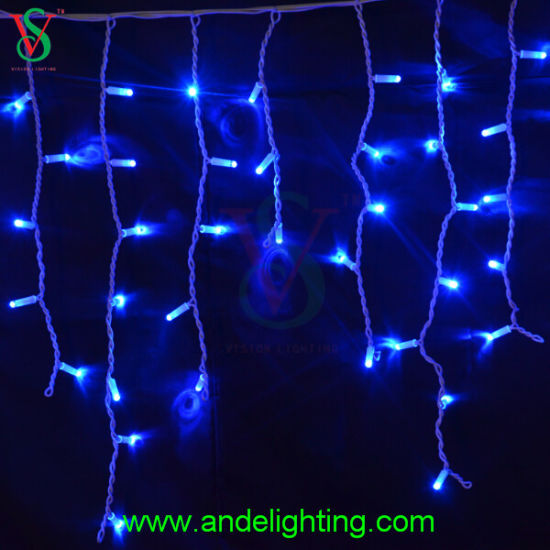 Christmas Decoration Outdoor Led Blue Icicle Lights
