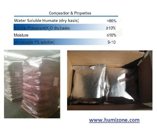 Humizone Organic Fertilizer From Leonardite: Potassium Humate 80% Powder (H080-P) pictures & photos