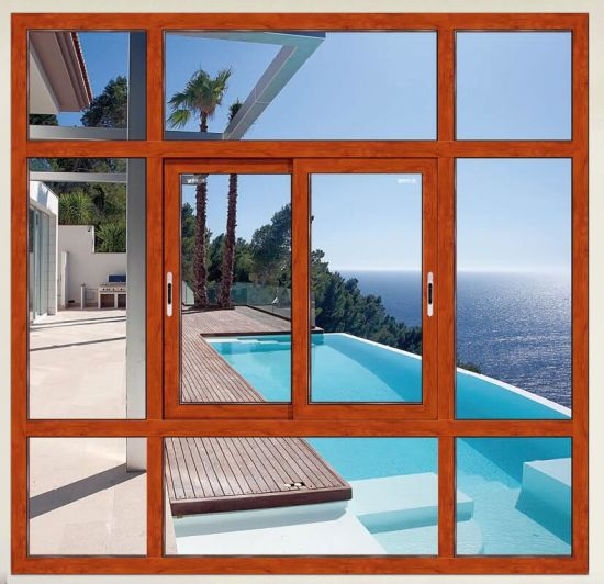 Customized Aluminium Horizontal Sliding and Casement Safety Security Windows with Mosquito Net/Flyscreen