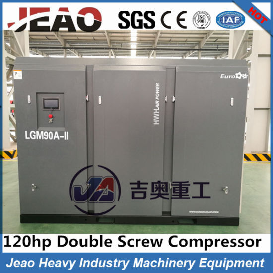 90kw/120HP Oil Lubricated Energy Industrial Saving Screw AC Air Compressor Price pictures & photos