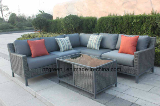 0048 10mm Half Moon Curve Flat Wicker Furniture Set pictures & photos