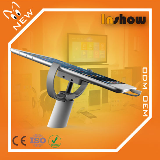 "10 Inch Tablet Security Stand / 9"" Tablet Table Holder / 10.1"" Tablet Metal Lock Desk Bracket (INSHOW A4540)"