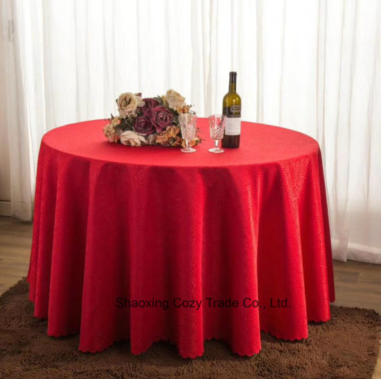 China Hot Sale Jacquard Table Linen Tablecloth For Banquet
