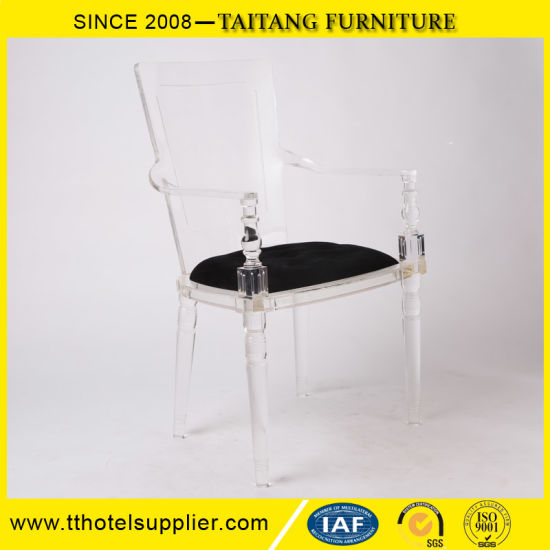 Home or Hotel Use Plastic Chair Clear Acrylic Lucite Arm Chair pictures & photos