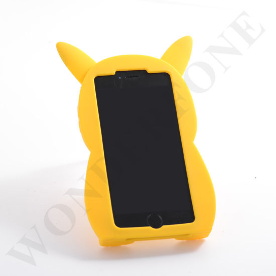 Hot Cute 3D Design Animal Mobile Phone Silicone Case for iPhone and Samsung