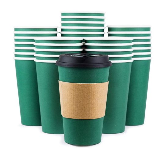 Disposable Coffee Cups with Lids pictures & photos