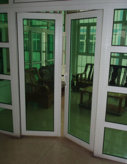 China Double Panes Opening Outward Upvc French Door With Double