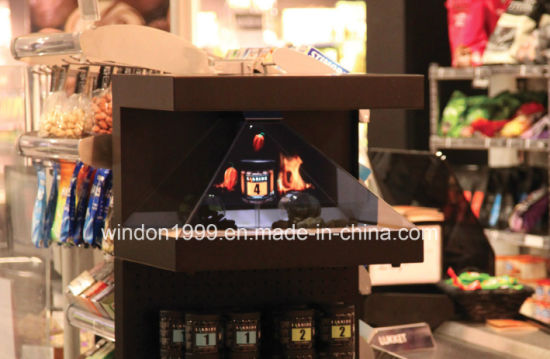 Advertising Player Hologram Pyramid Display Showcase
