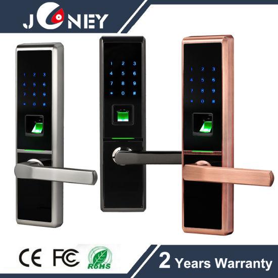Security Metal Casing Fingerprint Door Lock, with Finger Touch Keypad Door Lock