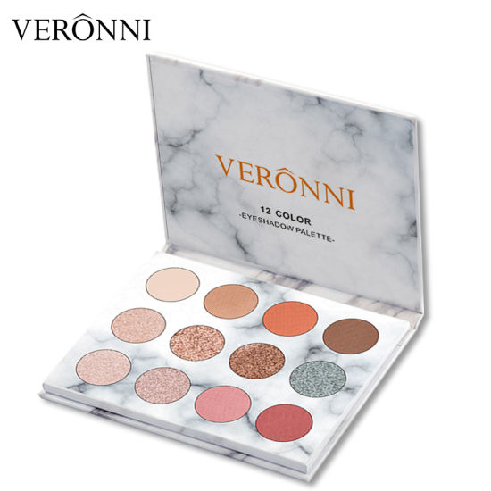 OEM/ODM 12 Colors Marble Private Label Eyeshadow Palette Make Your Own Brand Eye Shadow Pigment Pressed Powder Glitter Eyeshadow pictures & photos