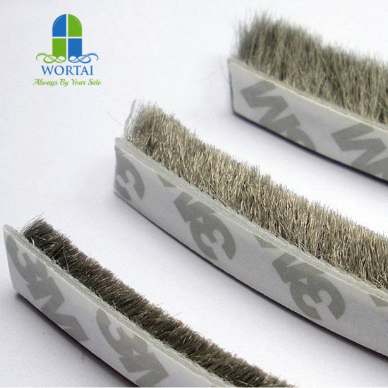 China Brown Self Adhesive Mohair Sealing Brush Strip Door