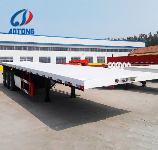 High Quality New 3axle 40FT Flatbed Container Semi Trailers for Sale