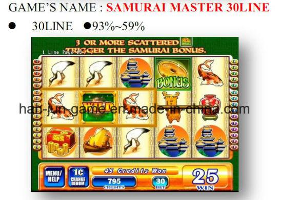 Samirai Master 30 Line Slot Arcade Gambling Casino Game Machine