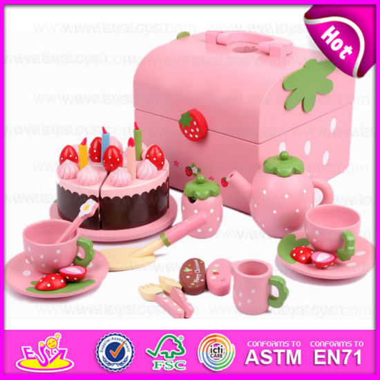 China 2015 New Wooden Cake Play Toys For Kids Popular Wooden Toy