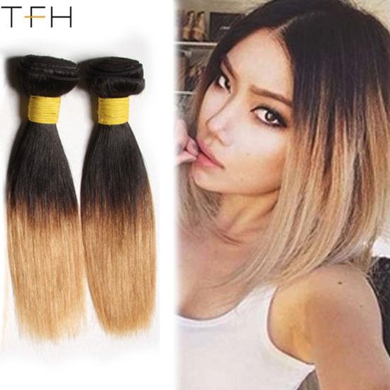 China Top Fashion Hair Blonde Brazilian Straight Hair Weave Bundles