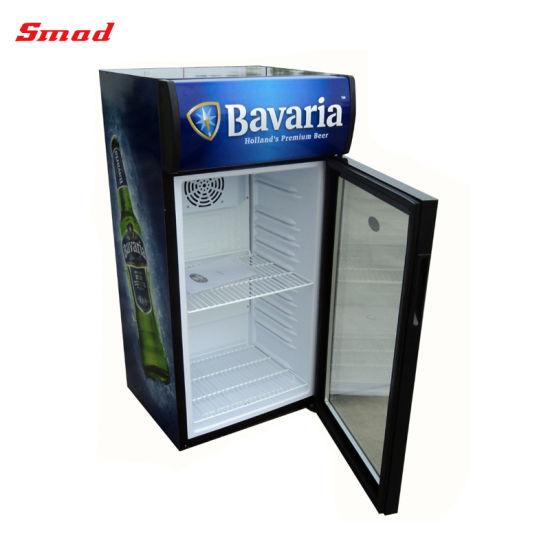 China Display Refrigerator Desk Top Glass Door Small Display Fridge