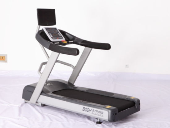 China Commercial Treadmill with TV Outside/Running Machine - China