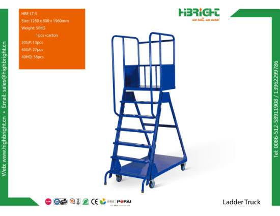 Warehouse Logistic Hand Ladder Trolley Cart pictures & photos