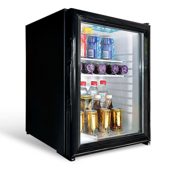 40L High Quality Small Beverage Refrigerator with Glass Door (GRT-XC40-1)