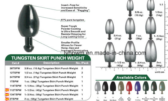 Tungsten Punch Weights FREE SHIPPING Brown 1//2 oz 5 Pack