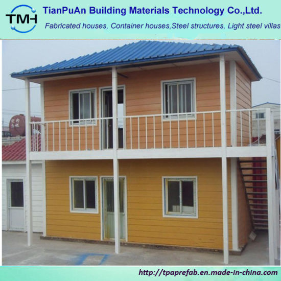 China Small Two Story Prefab House For Accommodation China