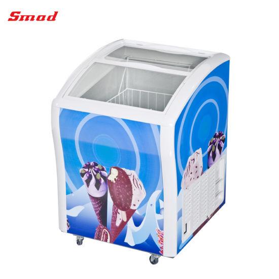 Best Selling Sliding Glass Door Supermarket Ice Cream Freezer Price