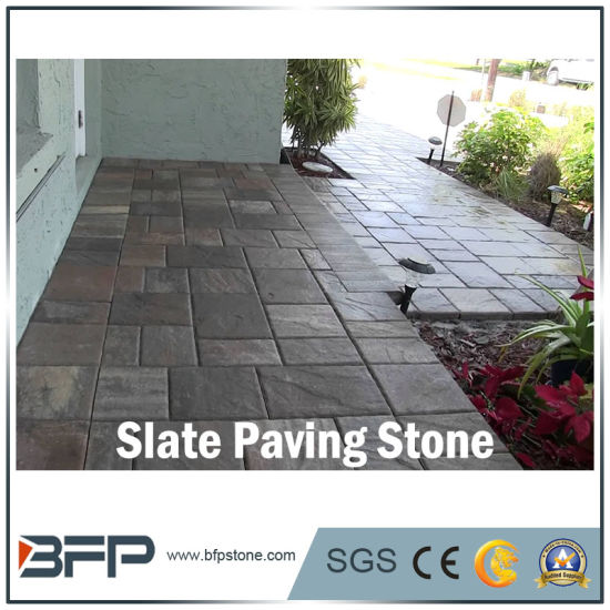 Polished Paving Stone Slate For Flooring, Landscape, Garden, Square Projects