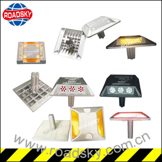 Highway Strong Resistance Single Side Aluminum Roadside White Road Reflector pictures & photos