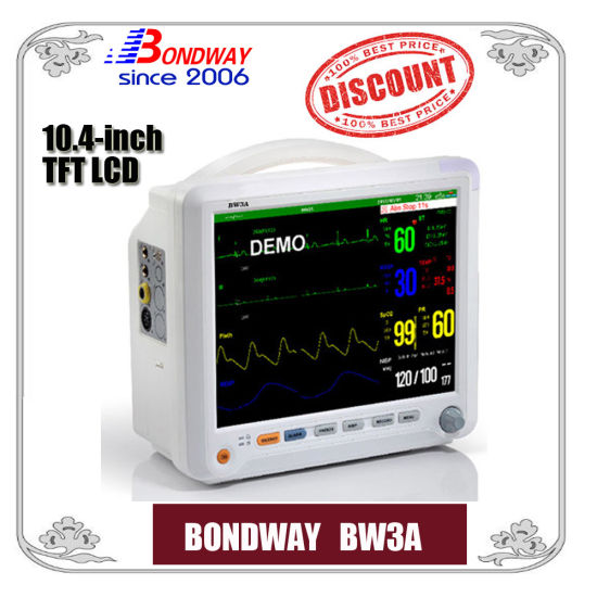 Medical Product, Hospital Equipment, Multi Parameter Portable Patient Monitor with 10.4 Inch TFT LCD