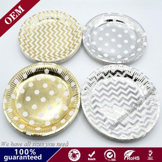 OEM Paper Plate Striped Party Tableware Resistant Disposable Paper Plate  sc 1 st  Qingdao Yide Shine Industry Co. Ltd. & China OEM Paper Plate Striped Party Tableware Resistant Disposable ...