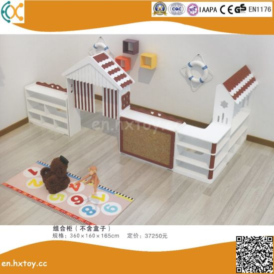 2018 Latest Preschool Children Wooden Toy Shelf