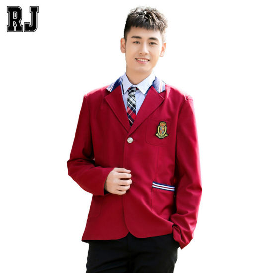 OEM Customized Men School Boy Buttons Casual Tuxedo Suits pictures & photos