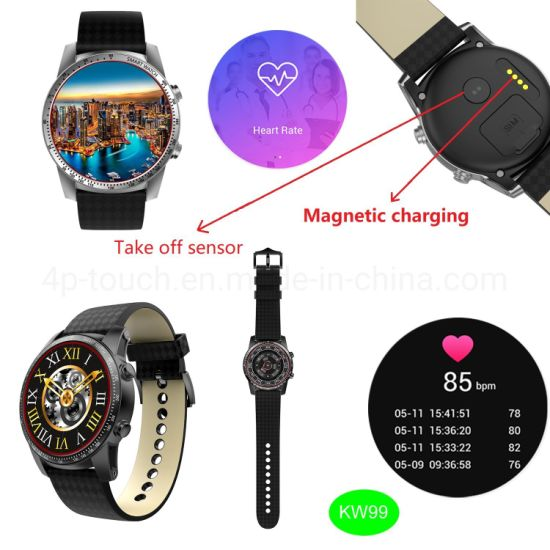 2019/WiFi 3G Wireless Wrist Sport Smartwatch Mobile Phone Kw99 pictures & photos