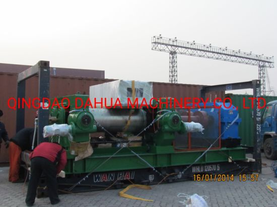 "22"" High Rubber Mixing Mill, High Accuracy Lab Rubber Two Roll Mill"
