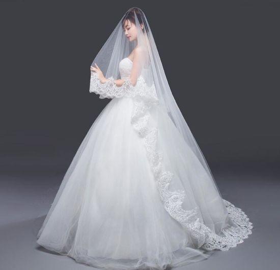 Lace Long Veil Wedding Jewelry Bridal Dress Accessories