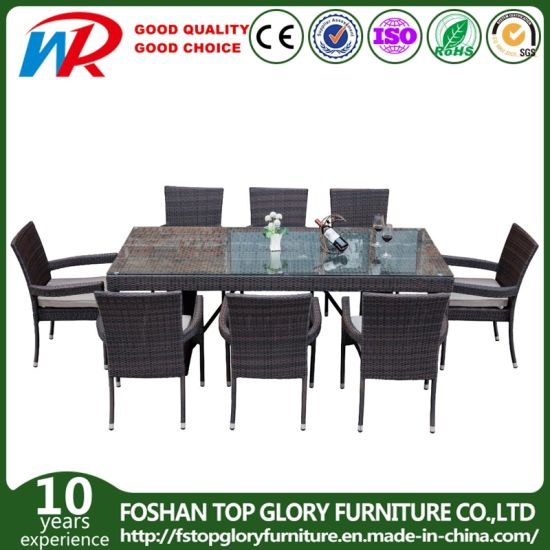 Garden Patio Furniture Outdoor Rattan Furniture Hotel Restaurant Wicker Dining Chair with Table Outdoor Furniture Set