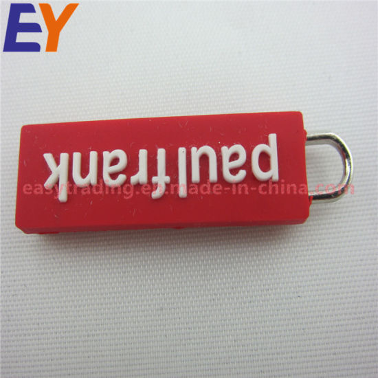 Hot Sell for Garments and Bags Soft PVC Rubber Cord Zipper Slider Puller pictures & photos