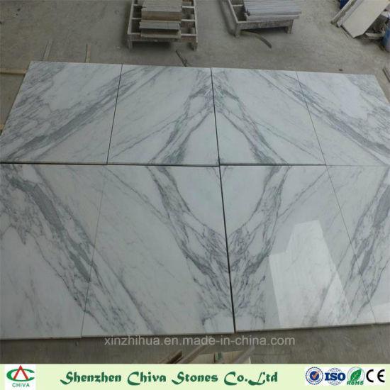 Building Decoration Material Statuario Marble White Tiles Slabs Vanity Top Countertop